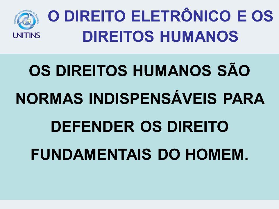 O DIREITO ELETRÔNICO E OS DIREITOS HUMANOS