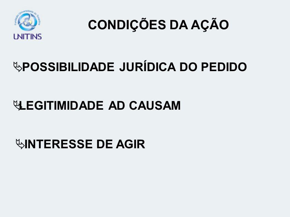 CONDIÇÕES DA AÇÃO POSSIBILIDADE JURÍDICA DO PEDIDO