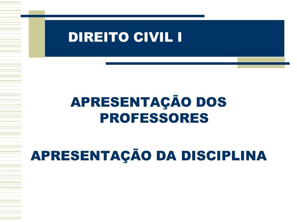 DIREITO CIVIL I de direito: