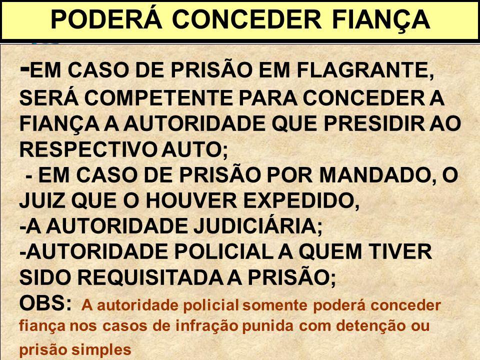 PODERÁ CONCEDER FIANÇA
