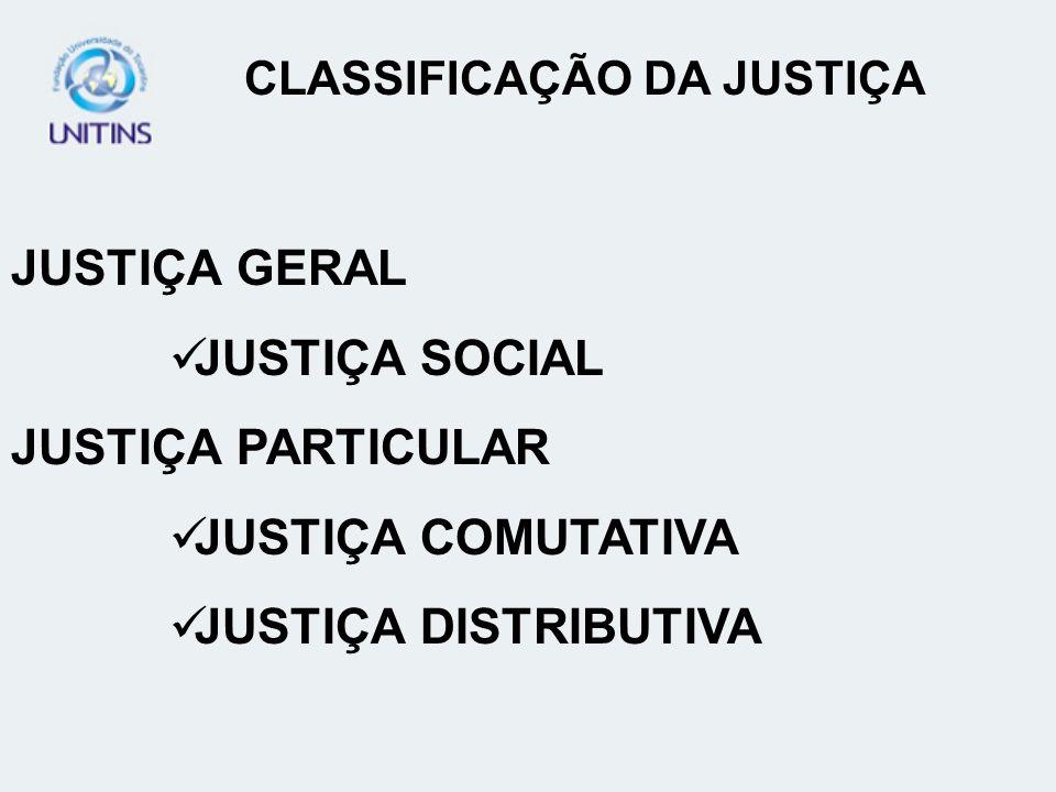 CLASSIFICAÇÃO DA JUSTIÇA