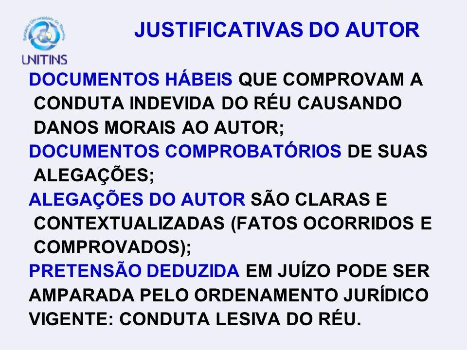 JUSTIFICATIVAS DO AUTOR