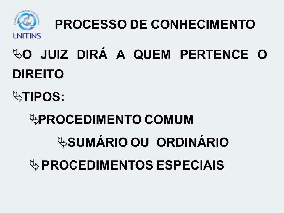 PROCESSO DE CONHECIMENTO