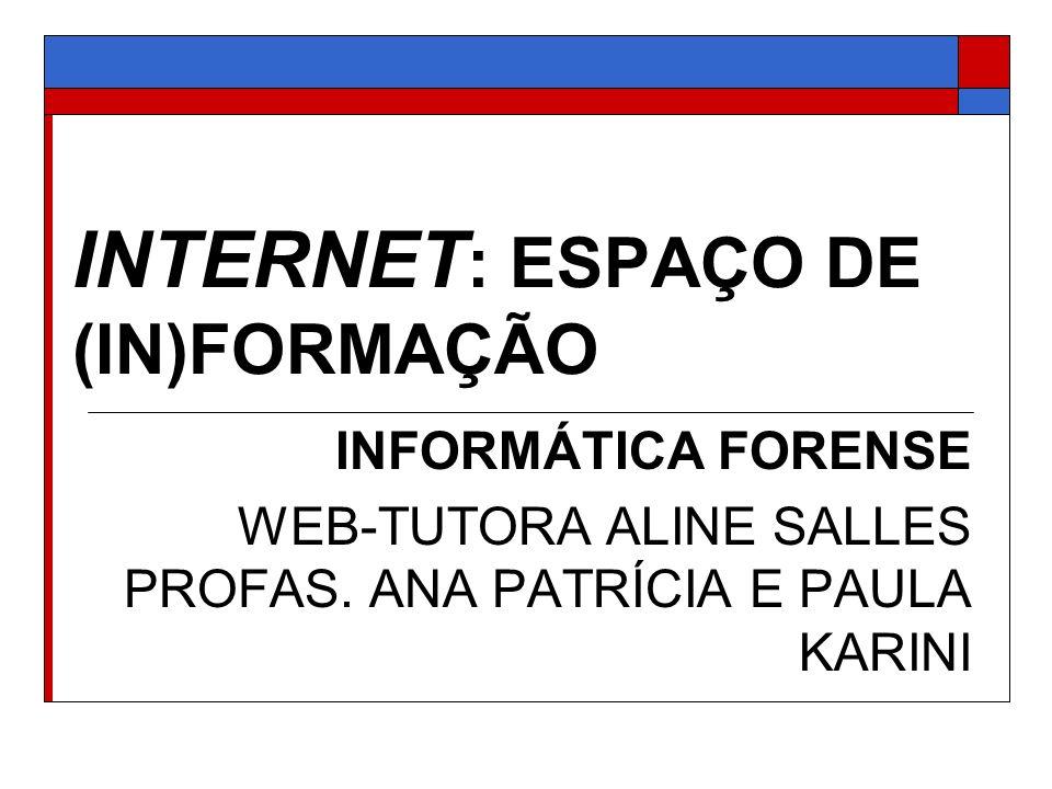 INTERNET: ESPAÇO DE (IN)FORMAÇÃO