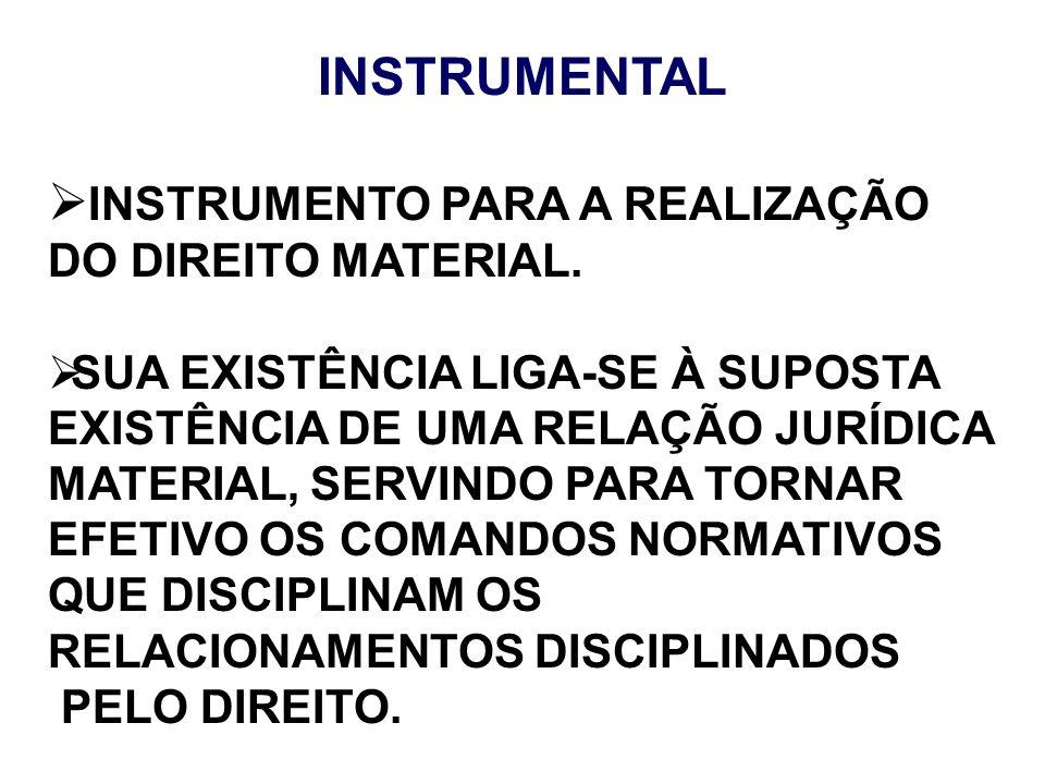 INSTRUMENTO PARA A REALIZAÇÃO DO DIREITO MATERIAL.