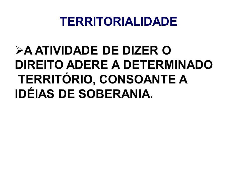 A ATIVIDADE DE DIZER O DIREITO ADERE A DETERMINADO