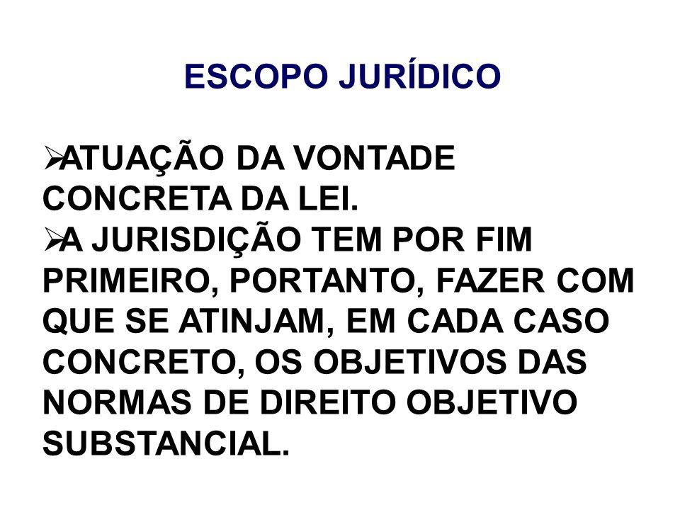 ATUAÇÃO DA VONTADE CONCRETA DA LEI.