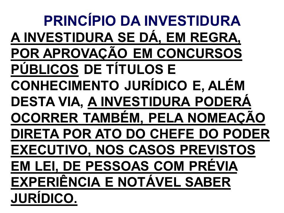 PRINCÍPIO DA INVESTIDURA