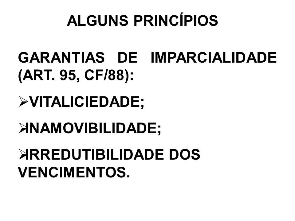 ALGUNS PRINCÍPIOSGARANTIAS DE IMPARCIALIDADE (ART.