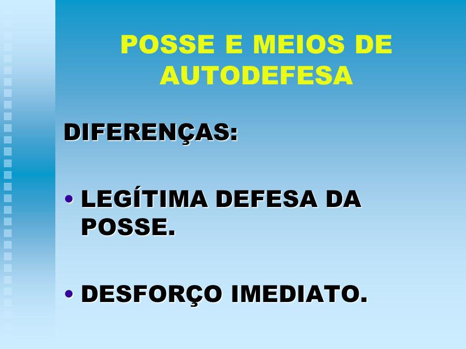POSSE E MEIOS DE AUTODEFESA