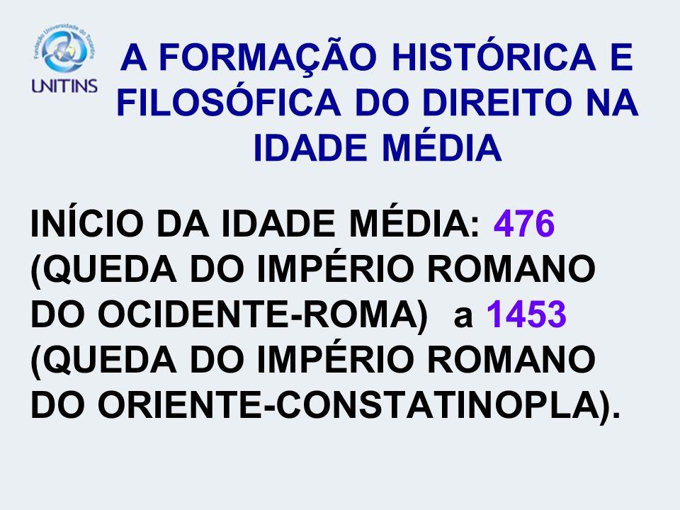 A FORMAÇÃO HISTÓRICA E FILOSÓFICA DO DIREITO NA IDADE MÉDIA