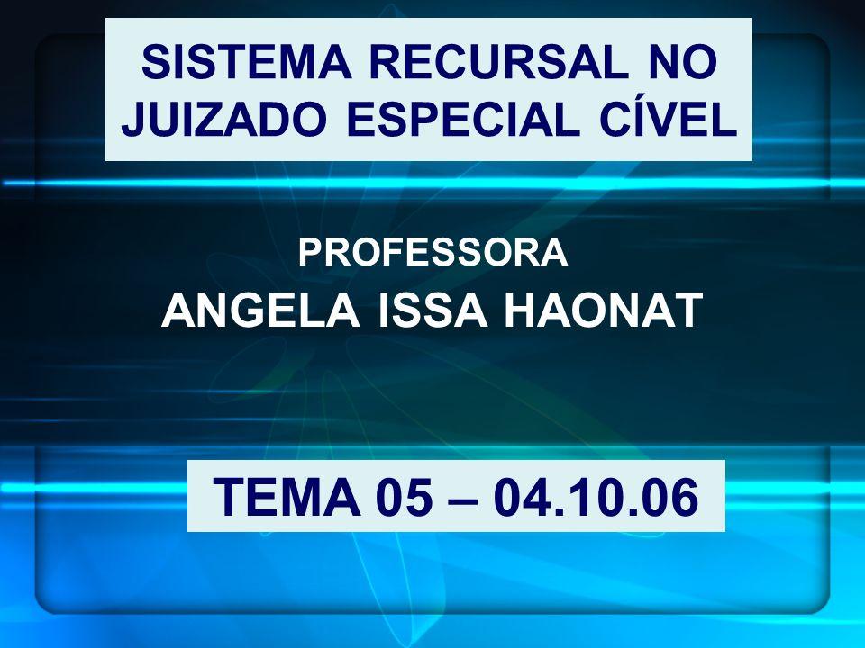 SISTEMA RECURSAL NO JUIZADO ESPECIAL CÍVEL