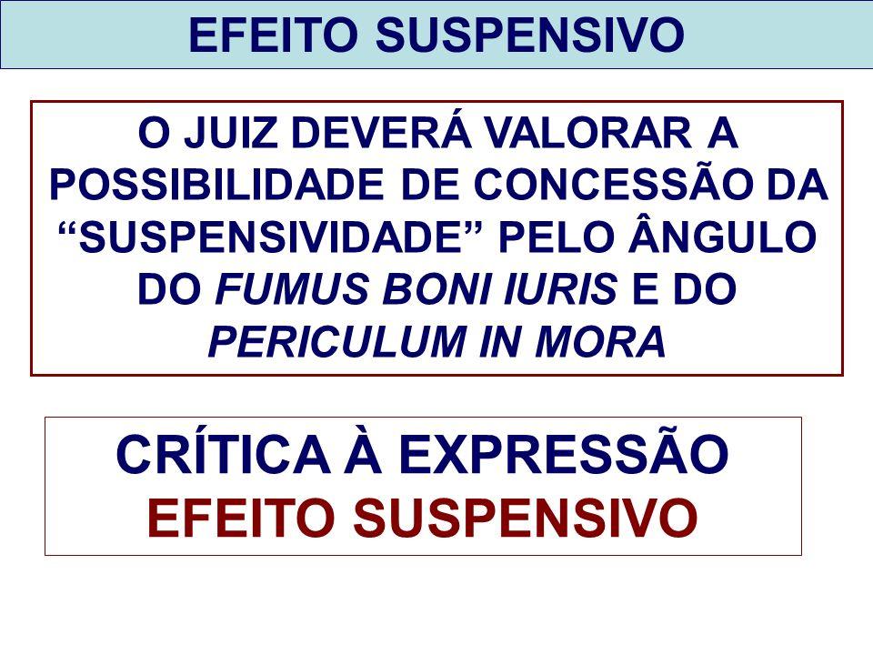 CRÍTICA À EXPRESSÃO EFEITO SUSPENSIVO