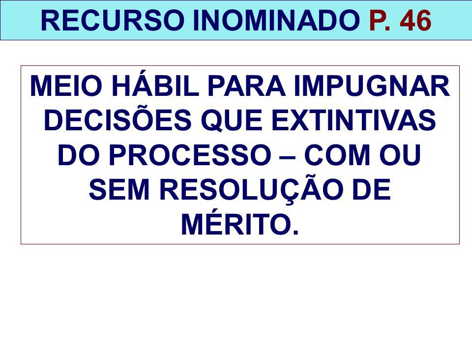 RECURSO INOMINADO P.