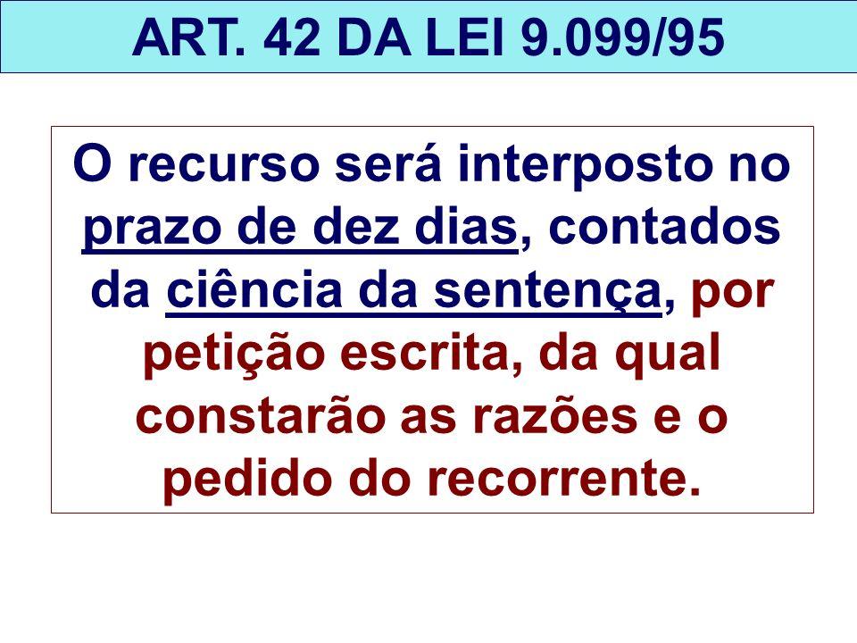 ART. 42 DA LEI 9.099/95
