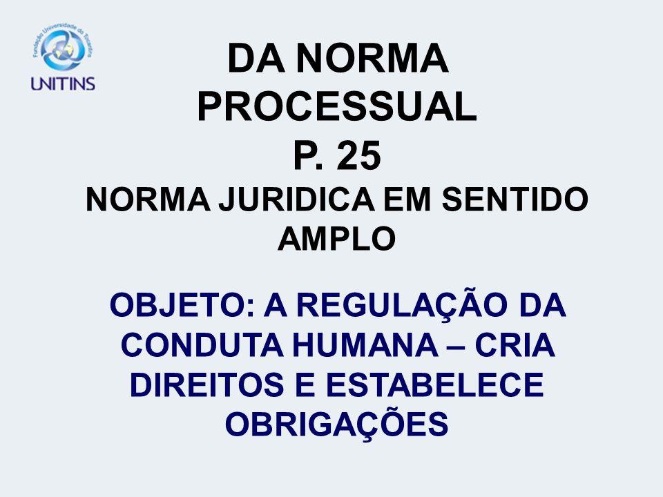 NORMA JURIDICA EM SENTIDO AMPLO