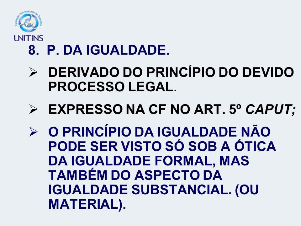 DERIVADO DO PRINCÍPIO DO DEVIDO PROCESSO LEGAL.