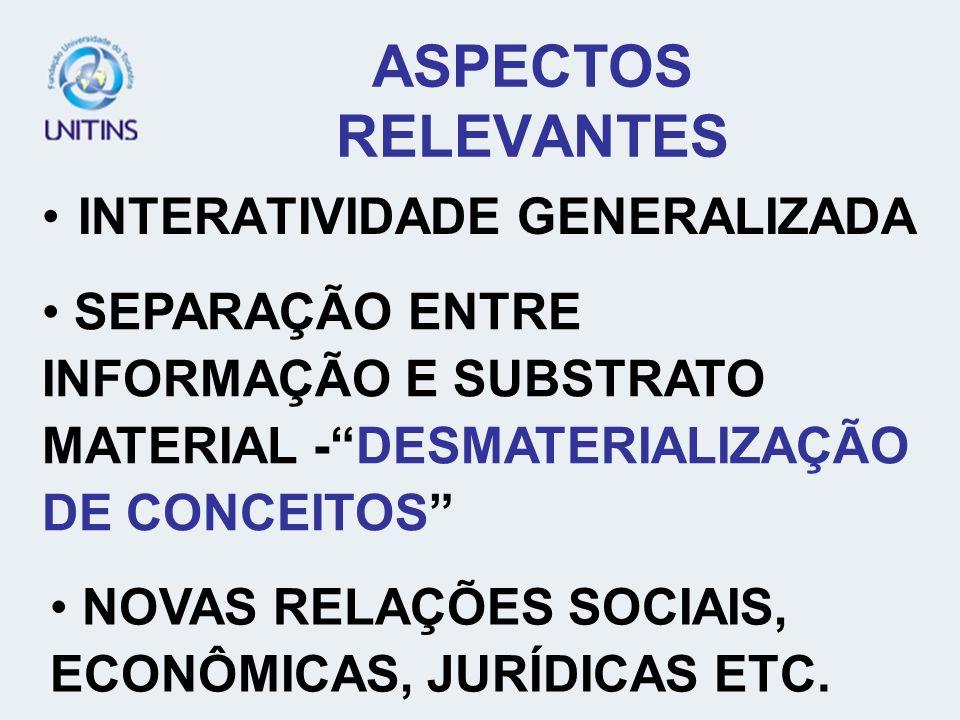 ASPECTOS RELEVANTES INTERATIVIDADE GENERALIZADA