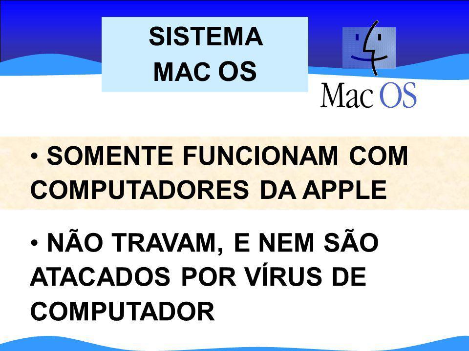 SISTEMA MAC OS SOMENTE FUNCIONAM COM COMPUTADORES DA APPLE.