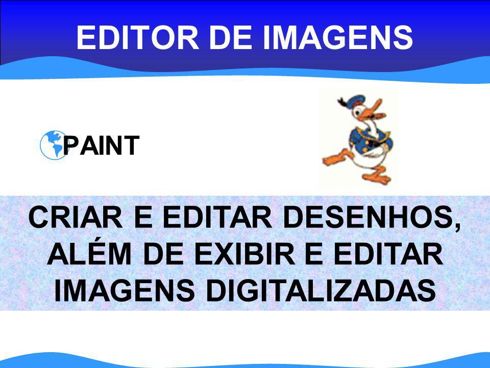 CRIAR E EDITAR DESENHOS, ALÉM DE EXIBIR E EDITAR IMAGENS DIGITALIZADAS