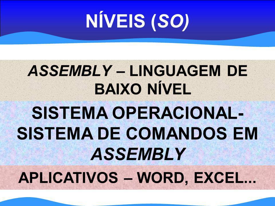 NÍVEIS (SO) SISTEMA OPERACIONAL- SISTEMA DE COMANDOS EM ASSEMBLY
