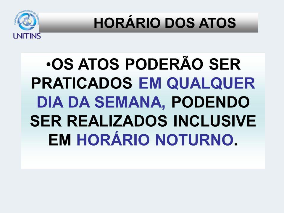 HORÁRIO DOS ATOS D.