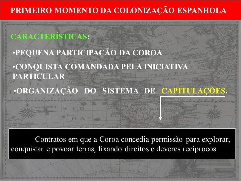 PRIMEIRO MOMENTO DA COLONIZAÇÃO ESPANHOLA
