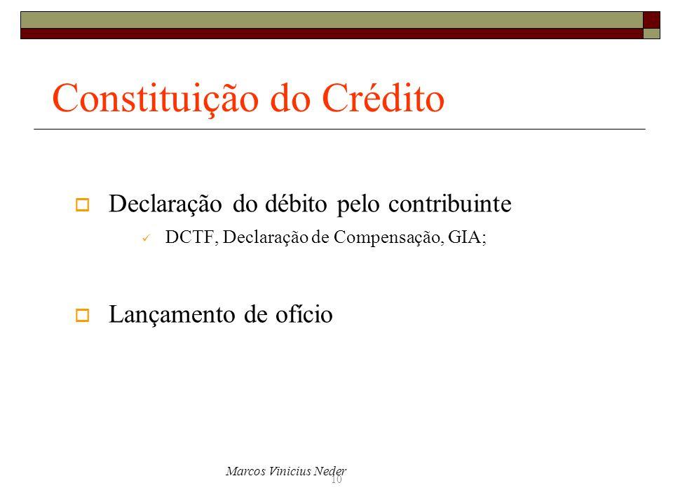 Constituição do Crédito
