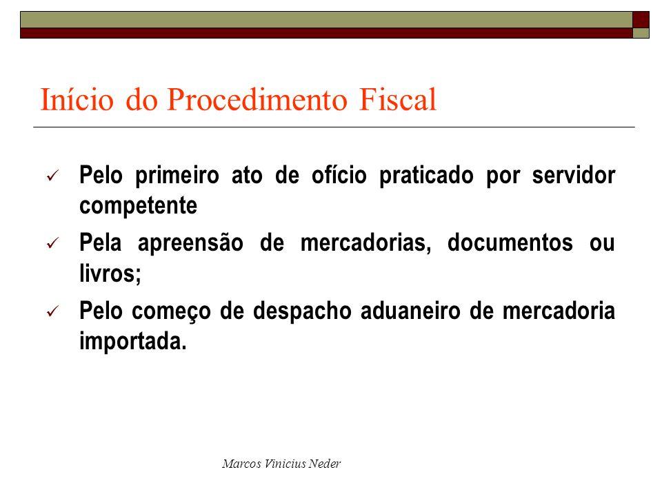 Início do Procedimento Fiscal