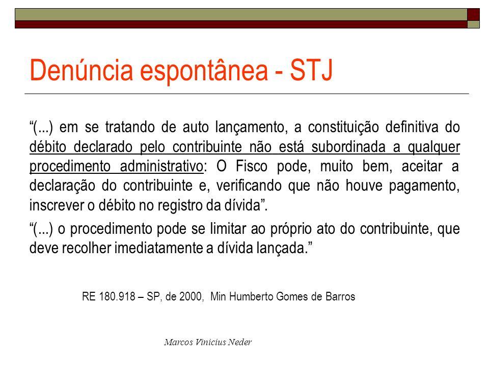 Denúncia espontânea - STJ