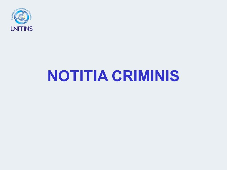 NOTITIA CRIMINIS