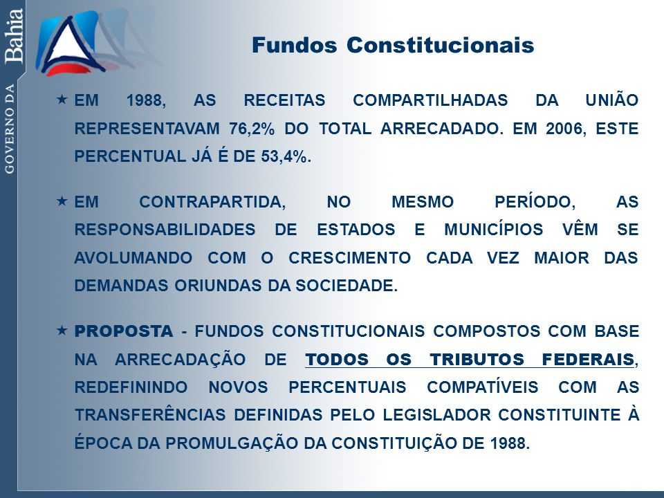 Fundos Constitucionais