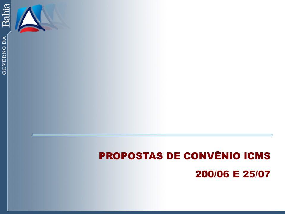 PROPOSTAS DE CONVÊNIO ICMS