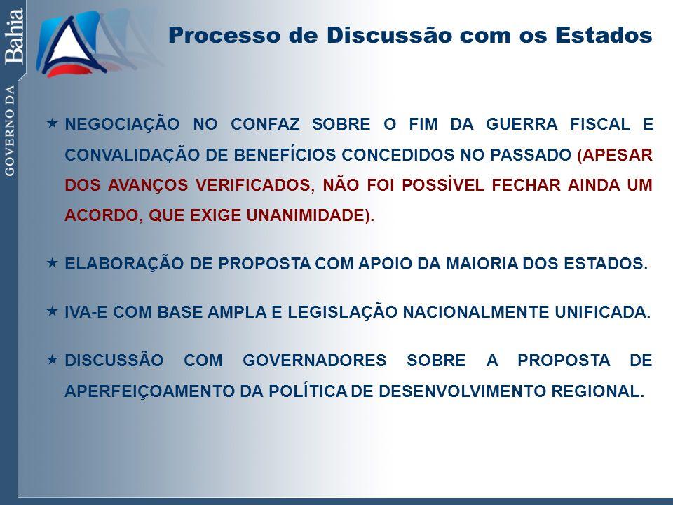 Processo de Discussão com os Estados