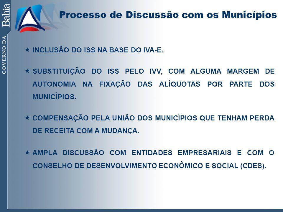 Processo de Discussão com os Municípios
