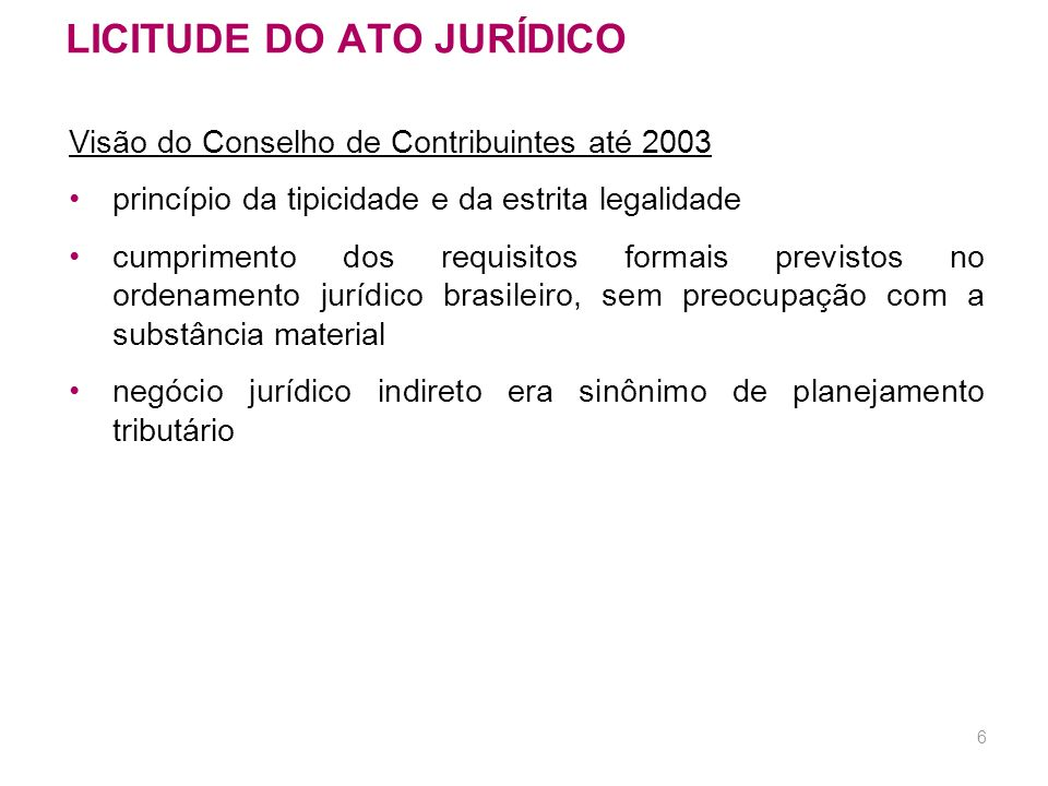 LICITUDE DO ATO JURÍDICO