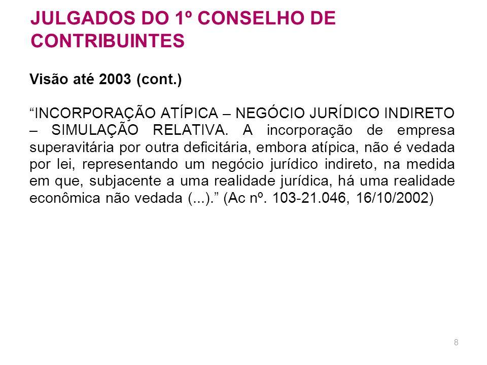 JULGADOS DO 1º CONSELHO DE CONTRIBUINTES