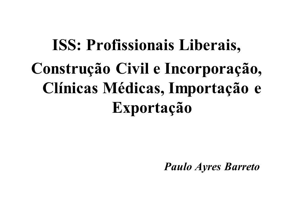 ISS: Profissionais Liberais,