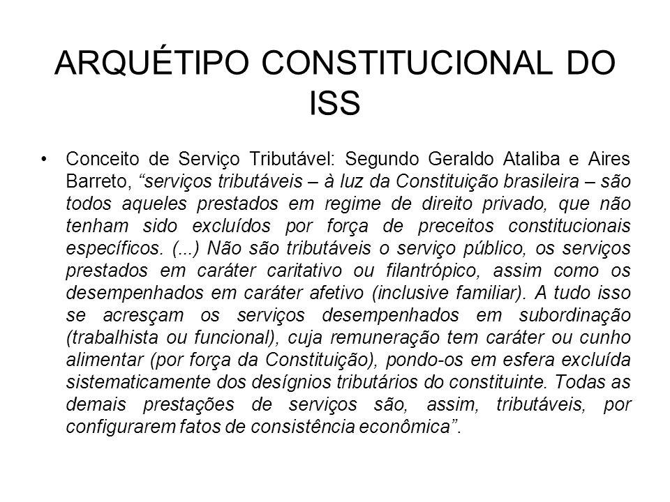 ARQUÉTIPO CONSTITUCIONAL DO ISS