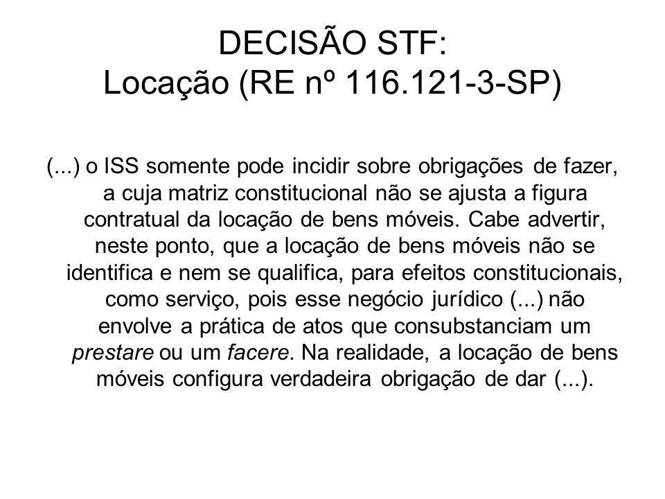 DECISÃO STF: Locação (RE nº 116.121-3-SP)