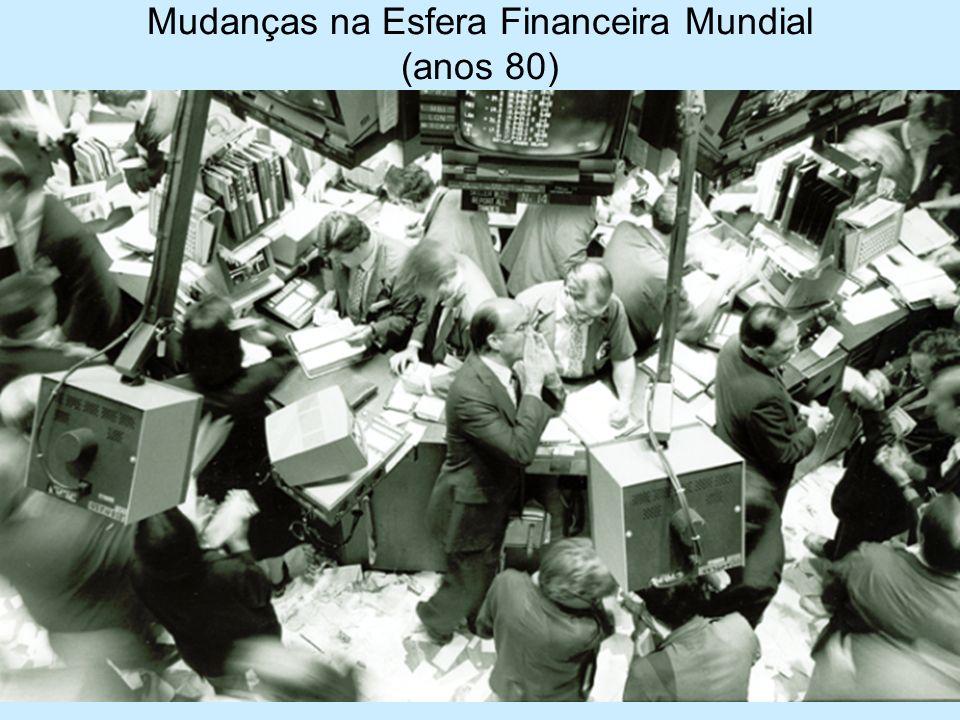 Mudanças na Esfera Financeira Mundial (anos 80)