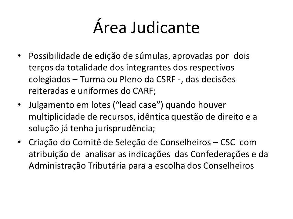 Área Judicante