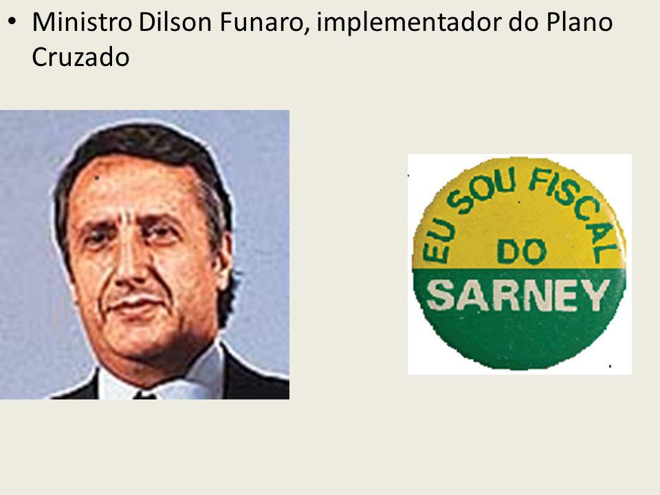 Ministro Dilson Funaro, implementador do Plano Cruzado