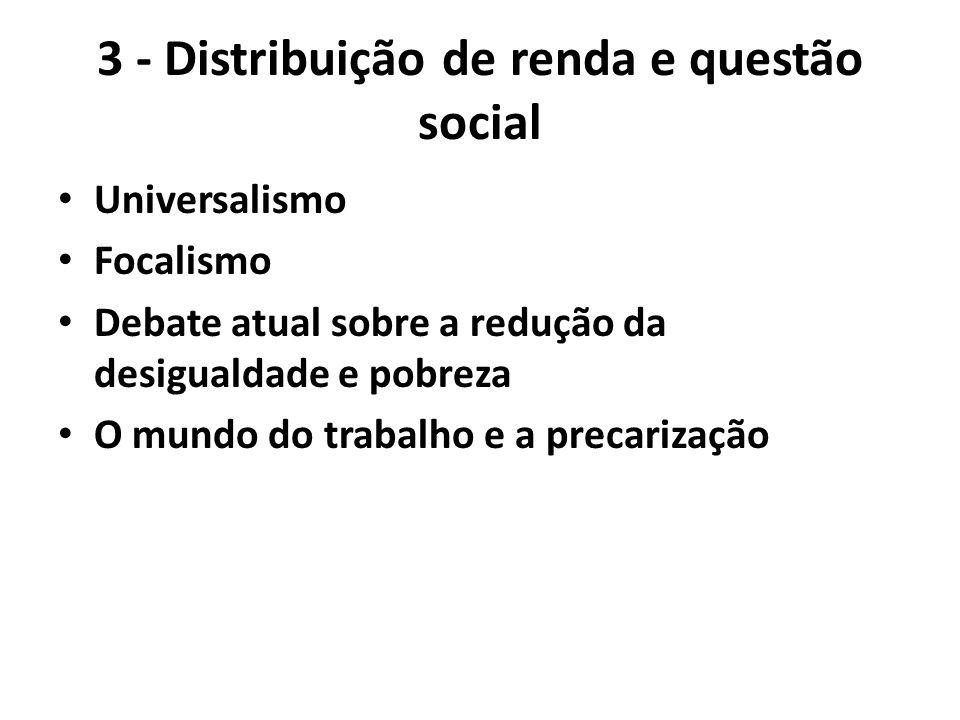 3 - Distribuição de renda e questão social