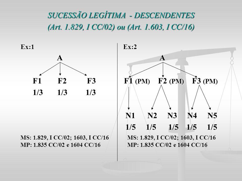 SUCESSÃO LEGÍTIMA - DESCENDENTES