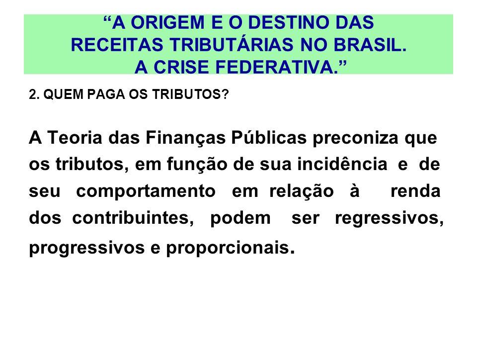 A Teoria das Finanças Públicas preconiza que