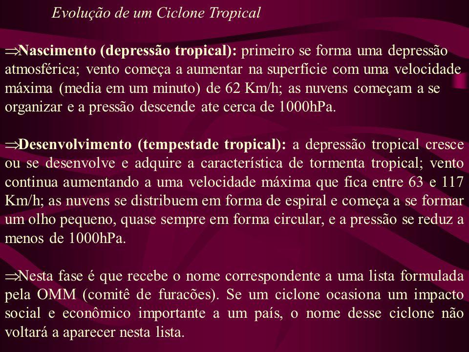 Evolução de um Ciclone Tropical