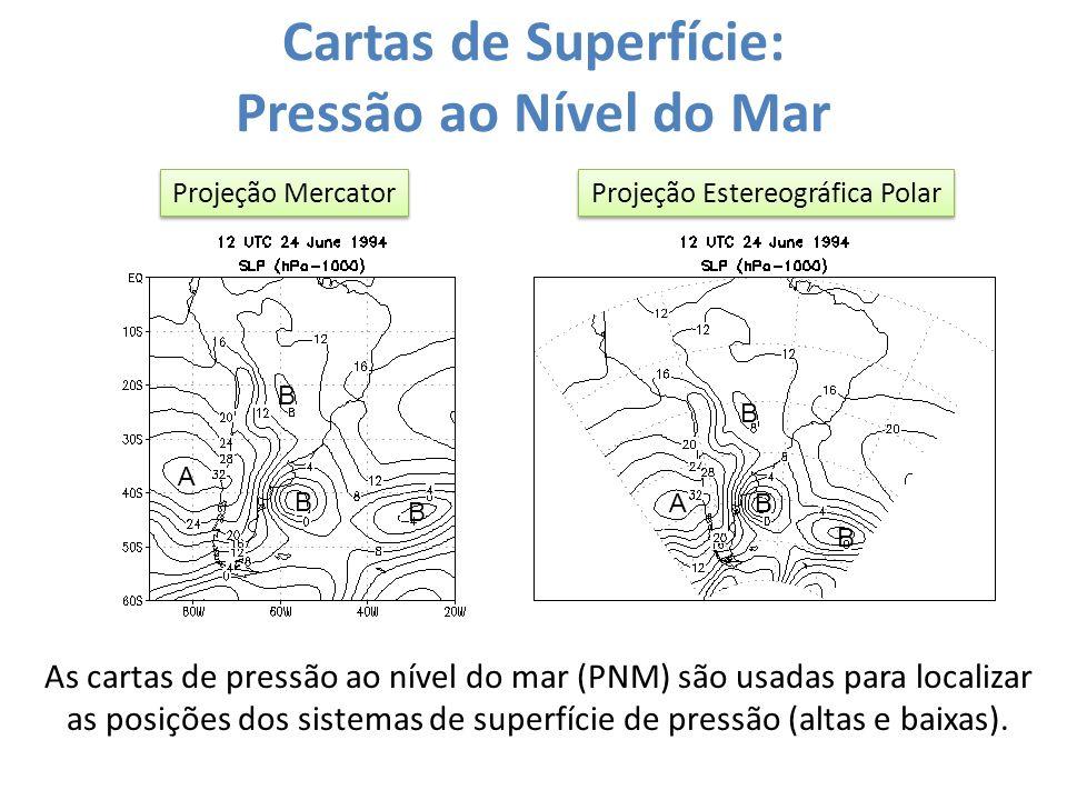 Cartas de Superfície: Pressão ao Nível do Mar