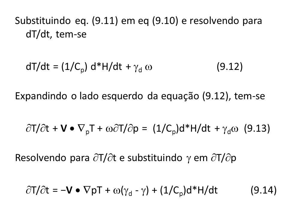Substituindo eq. (9. 11) em eq (9