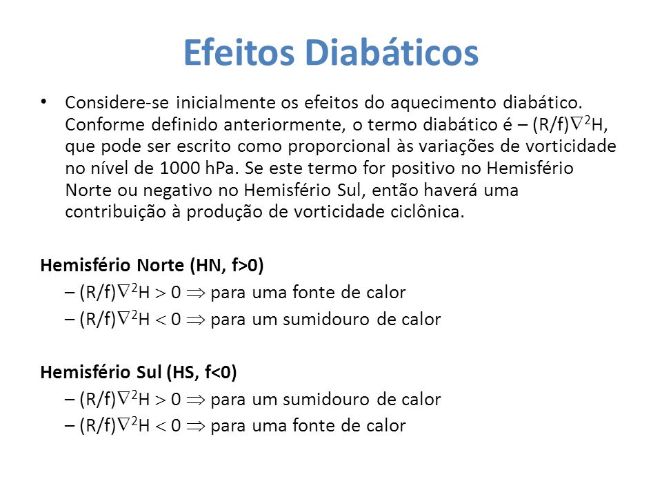 Efeitos Diabáticos